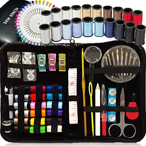 Sewing kit DIY Premium Sewing Supplies Mini Sewing kit 48 Spools of Thread 30 Most Useful Colors /& 18 Multi Colors Quality Sewing pins Travel Kids Beginners LE PAON