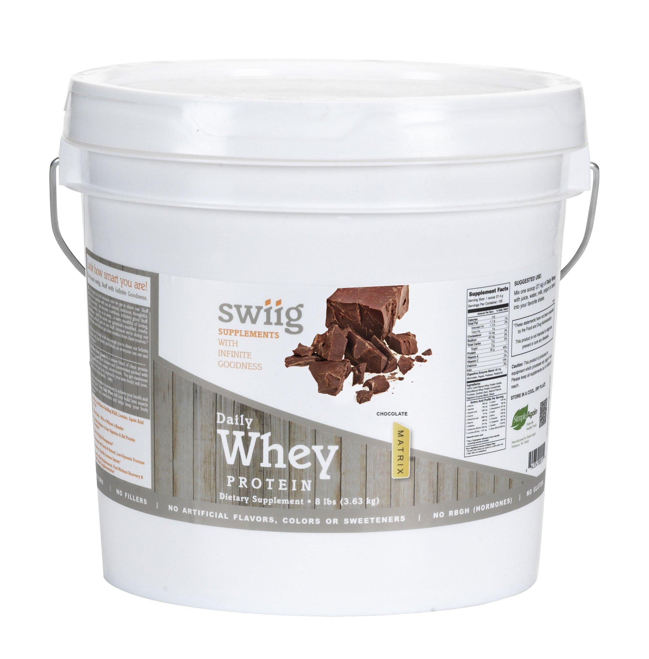 swiig Chocolate Whey Protein Matrix 8 lbs
