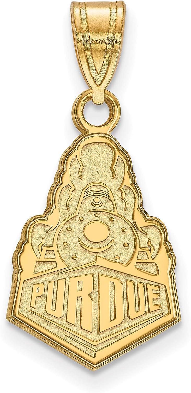 14k Yellow Gold Purdue University Boilermaker Special Logo Pendant 17x12mm