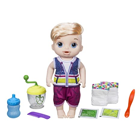 Amazon Com Baby Alive Sweet Spoonfuls Blonde Baby Doll Boy Toys