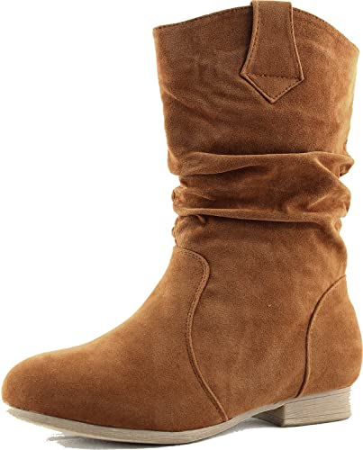 Women's Ankle Booties Mid Calf Knee High Slouch Cowboy Riding Military Combat Boots Fashion Shoes