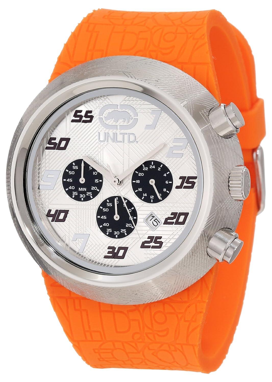 Marc Ecko – E17568G1 – The Eero – Armbanduhr – Quarz Chronograph – Weißes Ziffernblatt – Armband Gummi schwarz