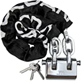VULCAN Security Chain and Lock Kit - Premium Case-Hardened - 3/8' x 3' Chain Cannot Be Cut with Bolt Cutters or Hand…