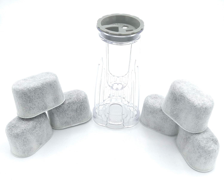 Blendin Water Filter Holder Handle with 6 Charcoal Filters Starter Kit, Compatible with Keurig K200, K215, K225, K230, K235, K240, K245, K250, K255, K260, K265, K270, K275 & K280 Coffee Makers