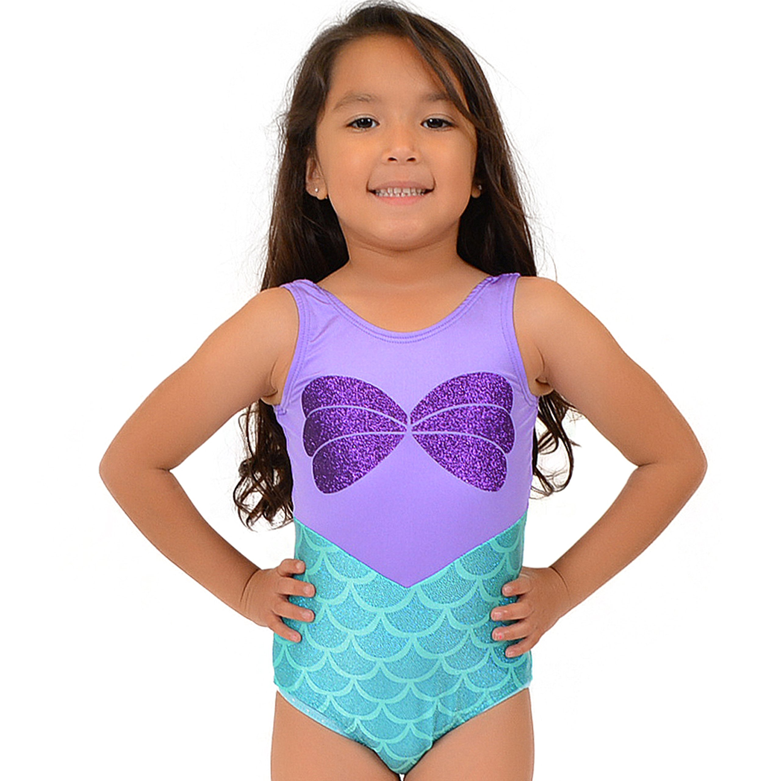 Stretch is Comfort Girl's Mystique Ariel Leotard XX-Small by Stretch is Comfort