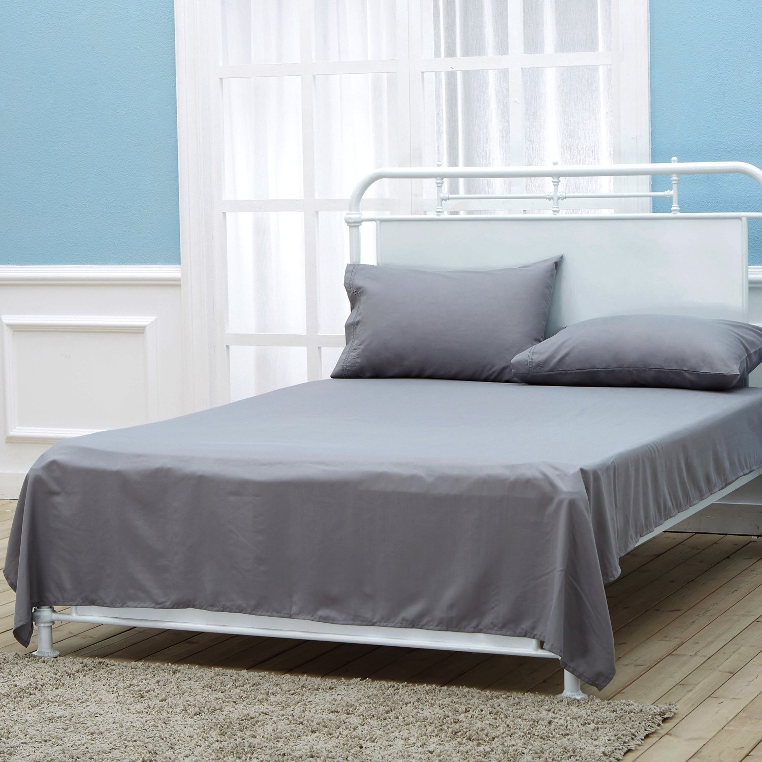 SEPOVEDA Queen Bed Sheet Set Brushed Microfiber Wrinkle Fade and Stain Resistant 1500 Thread Count Bedding Set
