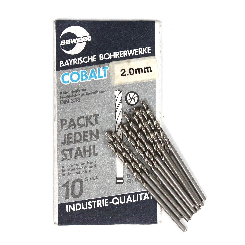 10BBW 2mm HSS-E Cobalt forets métaux durs et acier inoxydable. Fabriqué en Allemagne BBW Germany