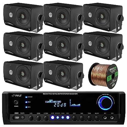 Amazon.com: Pyle PT390BTU Bluetooth Digital Home Theater 300-Watt ...