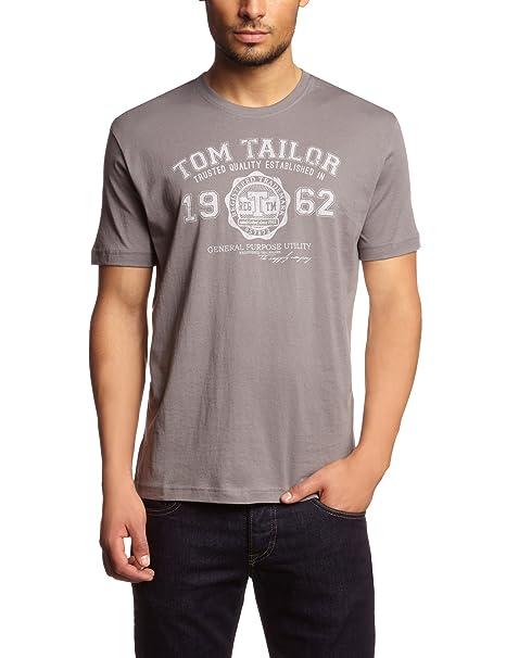 2ef3180ade Tom Tailor - Maglietta Nos, Manica lunga, Uomo, Argento (Silber ...