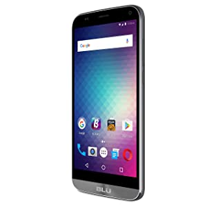 "BLU Dash XL Unlocked U.S. GSM 5.5"" Quad-Core Android Smartphone Phone - Gray"