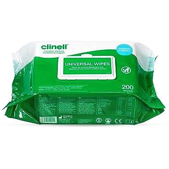 Clinell Universal toallitas-recarga de 100 por paquete
