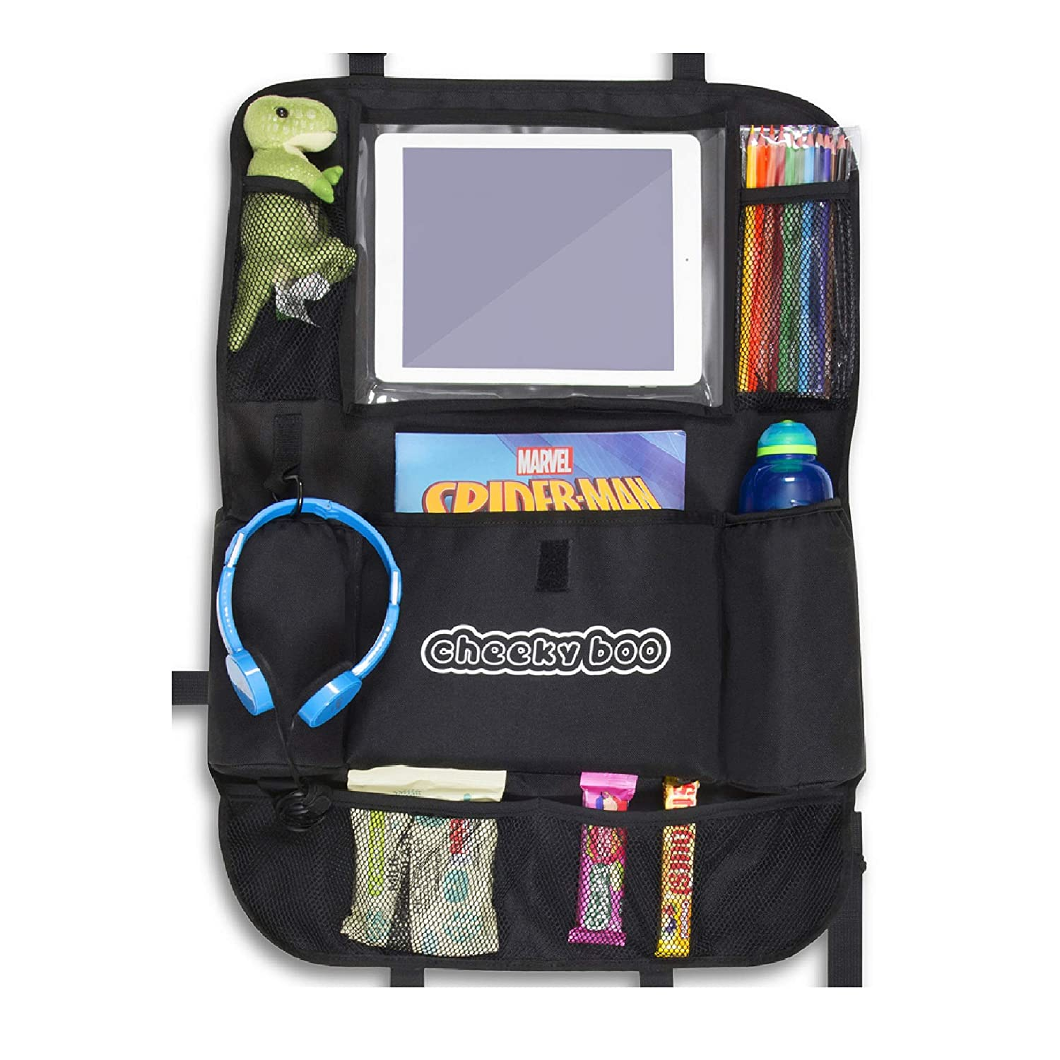 CheekyBoo - Child's Large Car Backseat Organiser with iPad/Tablet Holder for Kids and Toddlers