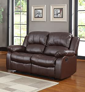 Classic and Traditional Bonded Leather Recliner Chair, Love Seat, Sofa Size - 1 Seater, 2 Seater, 3 Seater Set (2 Seater)