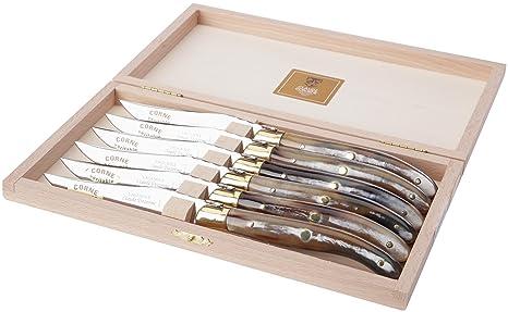 Amazon.com: Claude Dozorme Laguiole - Juego de cuchillos de ...