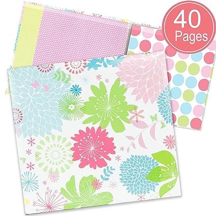 Amazon Scrapbook Album Floral Cover With 40 Pattern Scrapbook
