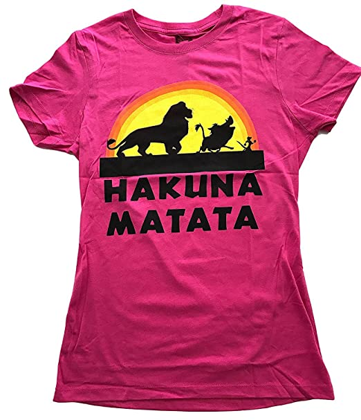 bd3a414eb Amazon.com: Lion King Disney Hakuna Matata T Shirt Women's Juniors ...