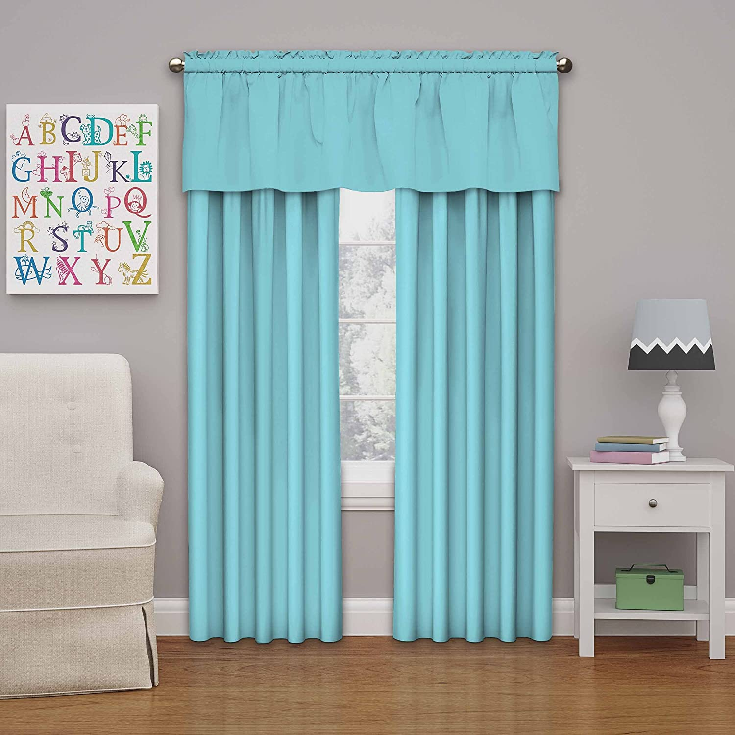 Eclipse Kids Microfiber Blackout Window Curtain Panel Ivory 84 42x84 84 42x84 Ellery Homestyles 13303042X084IVY