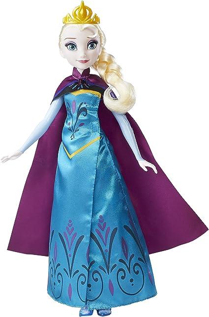 Amazon Com Disney Frozen Royal Reveal Elsa Doll Toys Games