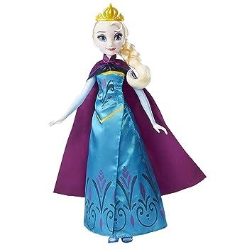 27635cad20 Boneca Frozen Elsa Vestido Duplo Hasbro Azul Vinho  Amazon.com.br ...