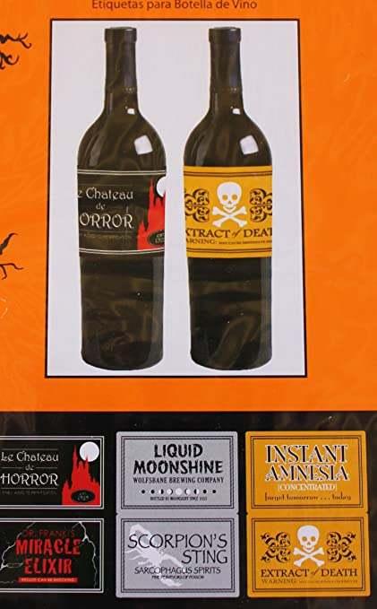 Halloween Wine Bottle Stickers (6 count)