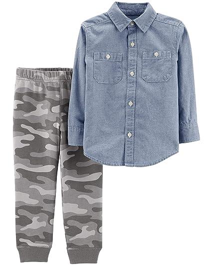 ee3725087 Amazon.com: Carter's Baby Boy's 2 Piece Shirt and Pants Set: Clothing