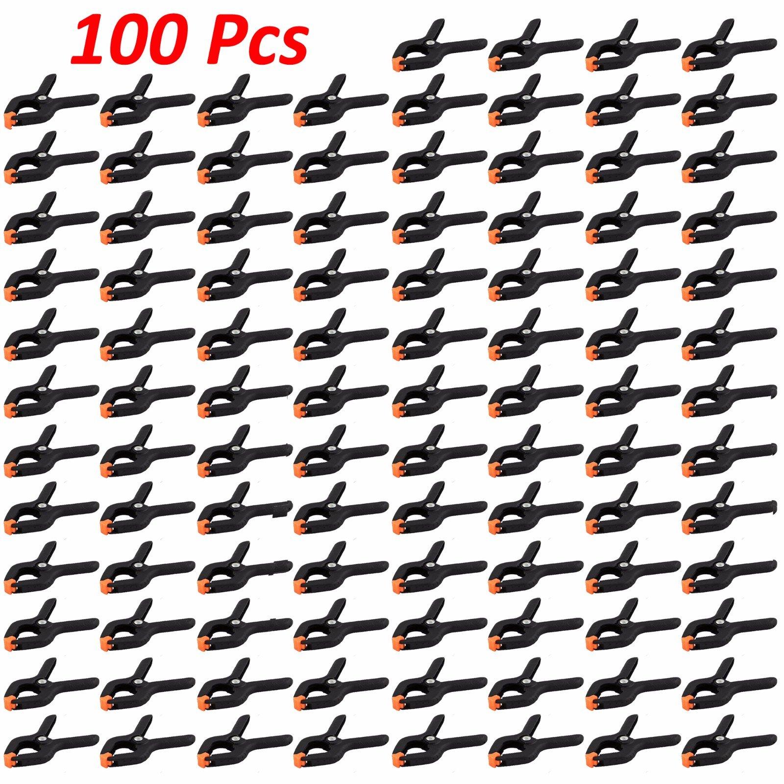 Wideskall 2.7'' inch Mini Nylon Plastic Spring Clamps - Pack of 100
