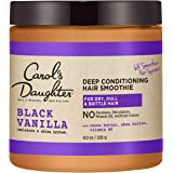 Carol's Daughter Black Vanilla Moisture & Shine Hair Smoothie For Dry Hair and Dull Hair, with Shea Butter, Cocoa Butter and Vitamin B5, Paraben Free Hair Treatment, 8 oz (Packaging May Vary)