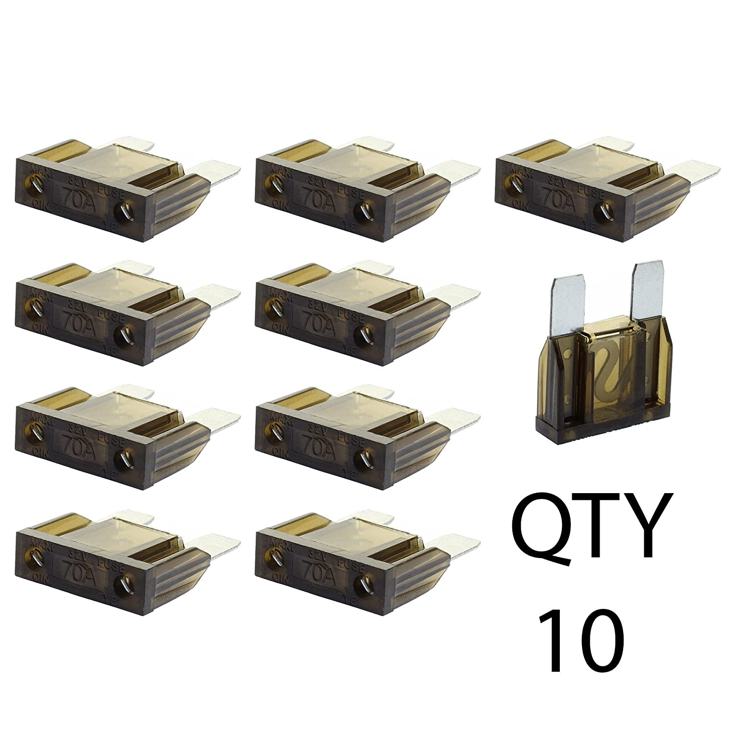 5 Pack DS18 MANL-120A Mini ANL AFL 120 Amp Silver Plated Fuse