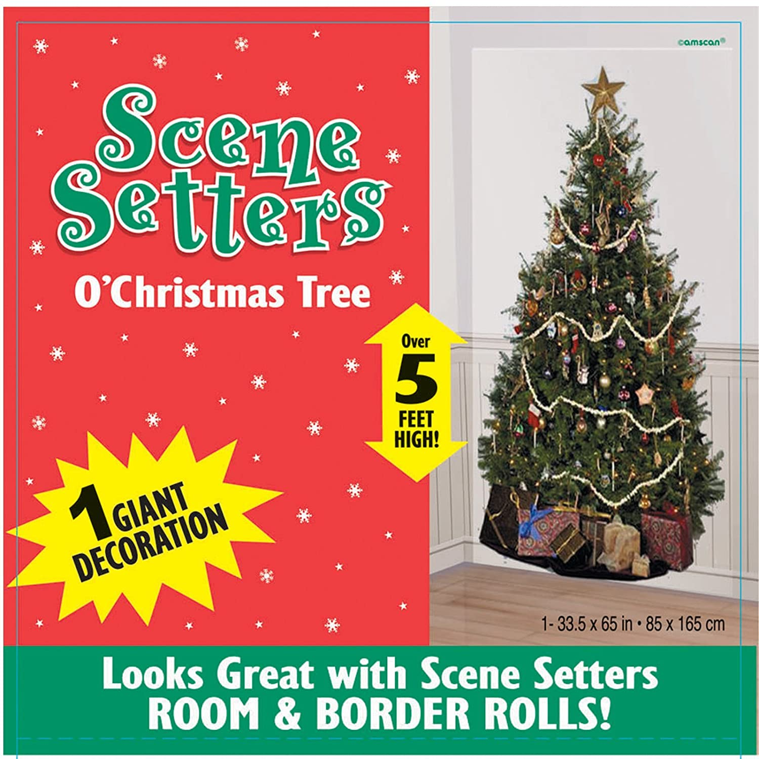 Amazon.com: Amscan Scene Setter - O Christmas Tree: Home Improvement