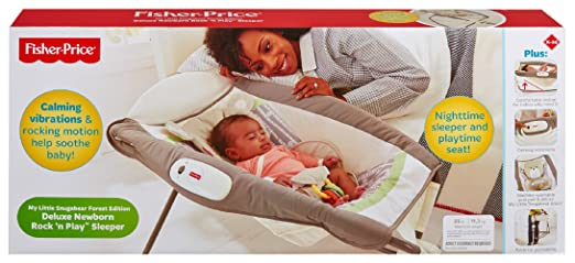 Fisher-Price My Little Snugabear Forest Edition Deluxe Newborn Rock N Play Sleeper by Fisher-Price: Amazon.es: Bebé