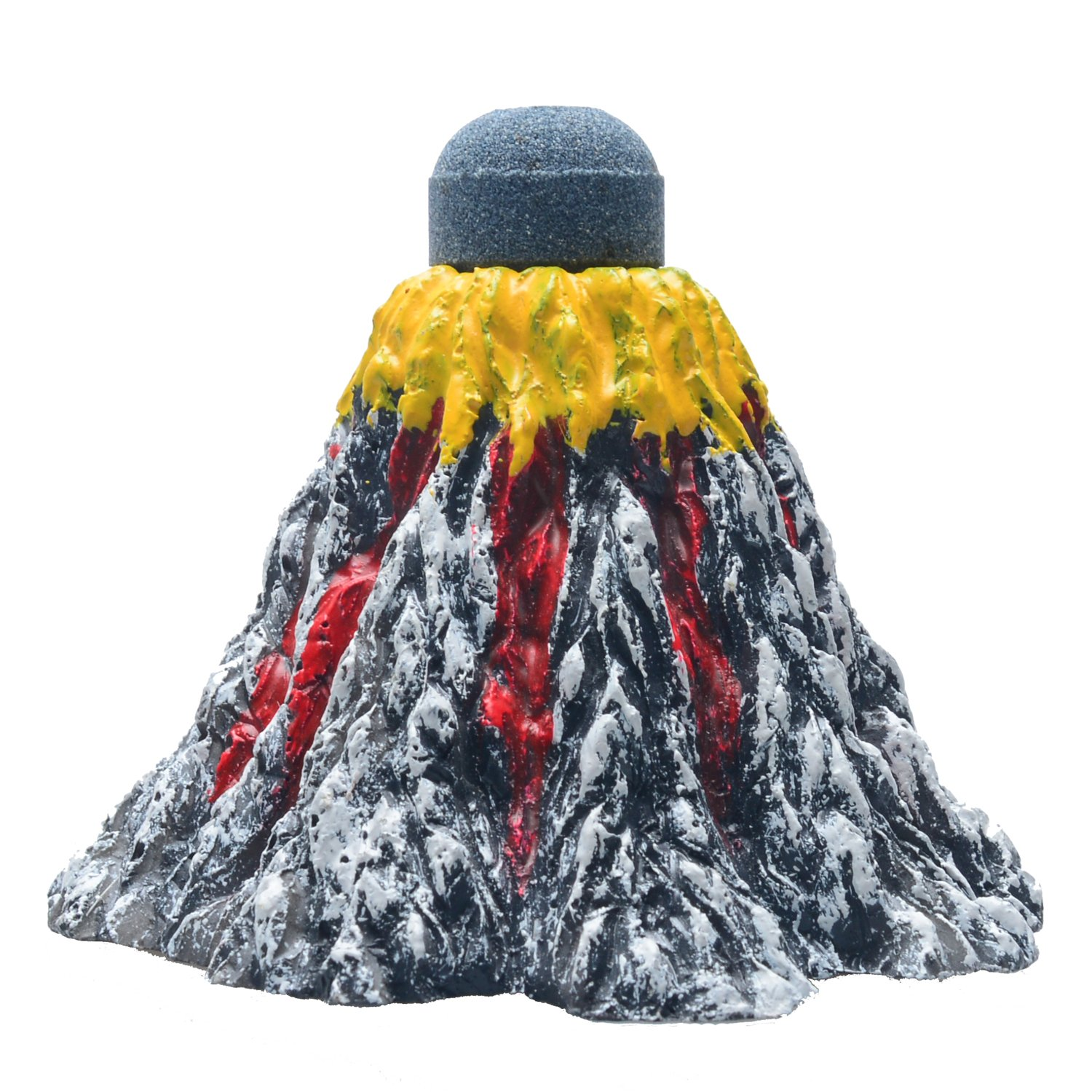4.3\ Uniclife Aquarium Volcano Ornament Kit with Air Stone Bubbler Fish Tank Decorations (Small)