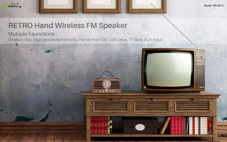 QIA Receptor USB Radio Retro Super Bass FM Radio Clásica Altavoces Multimedia con Reproductor de MP3 Altavoz Bluetooth Subwoofer,B: Amazon.es: Deportes y aire libre