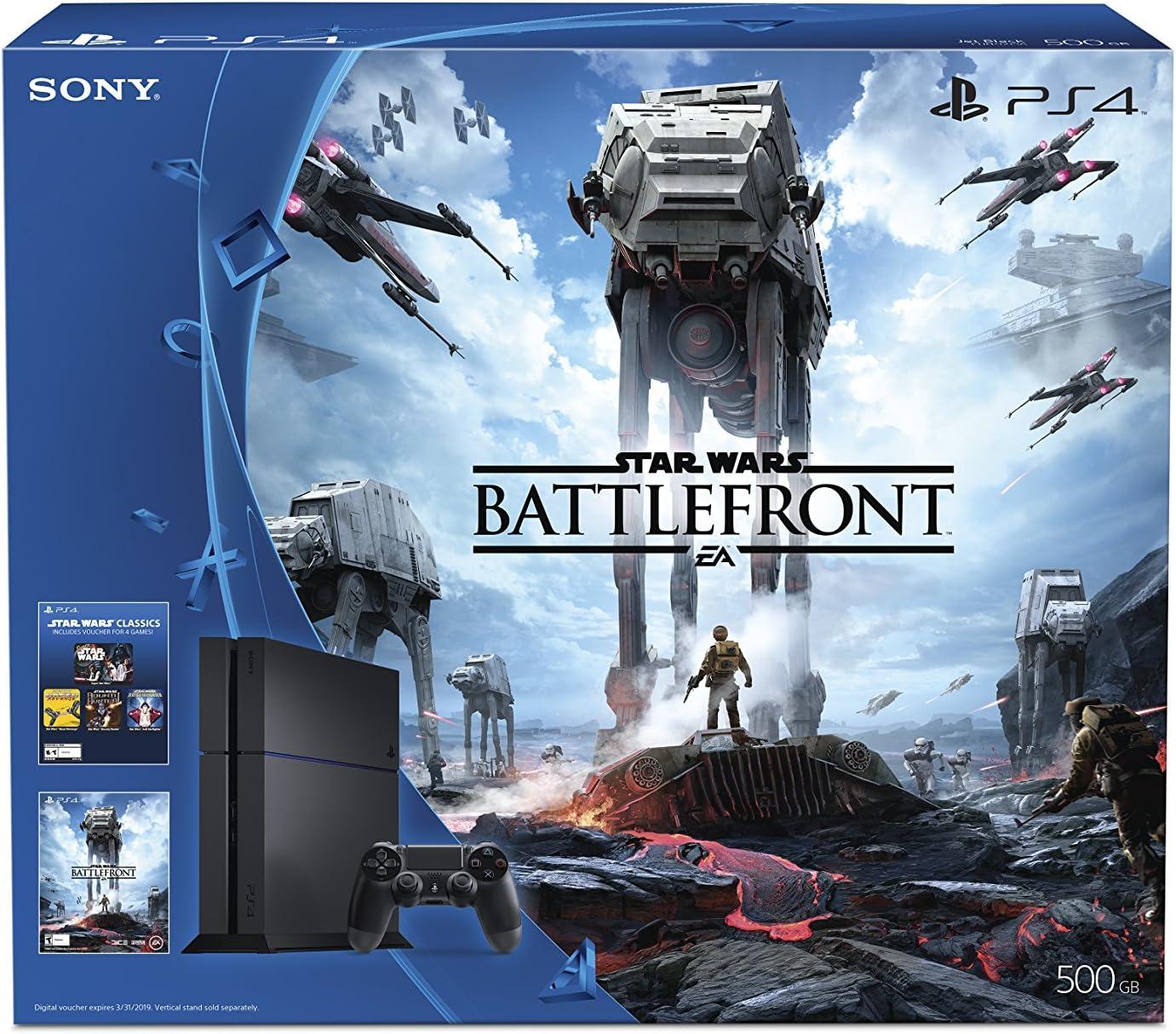Sony PlayStation 4 STAR WARS Battlefront 500GB Bundle - videoconsolas: Amazon.es: Videojuegos