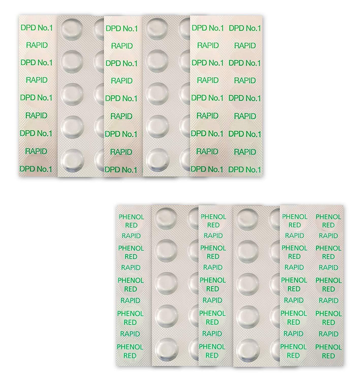 Pool Testtabletten DPD 1 Tabletten Chlor Chlorwert Tester Pooltester 60 St.