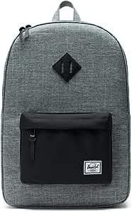 Herschel Heritage Backpack-Raven Crosshatch Black Pebbled Leather (10007-01132-OS)