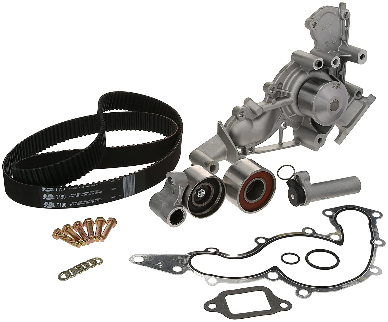 Amazon com gates tckwp190 engine timing belt kit with water pump automotive
