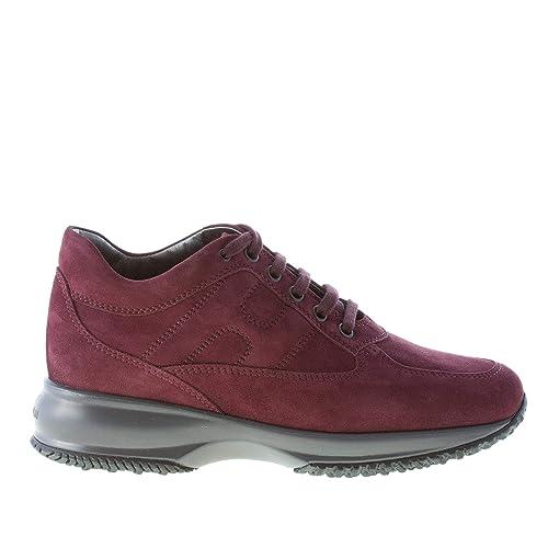Hogan Donna Interactive Sneaker in camoscio Vinaccia  Amazon.it  Scarpe e  borse 96527193b15