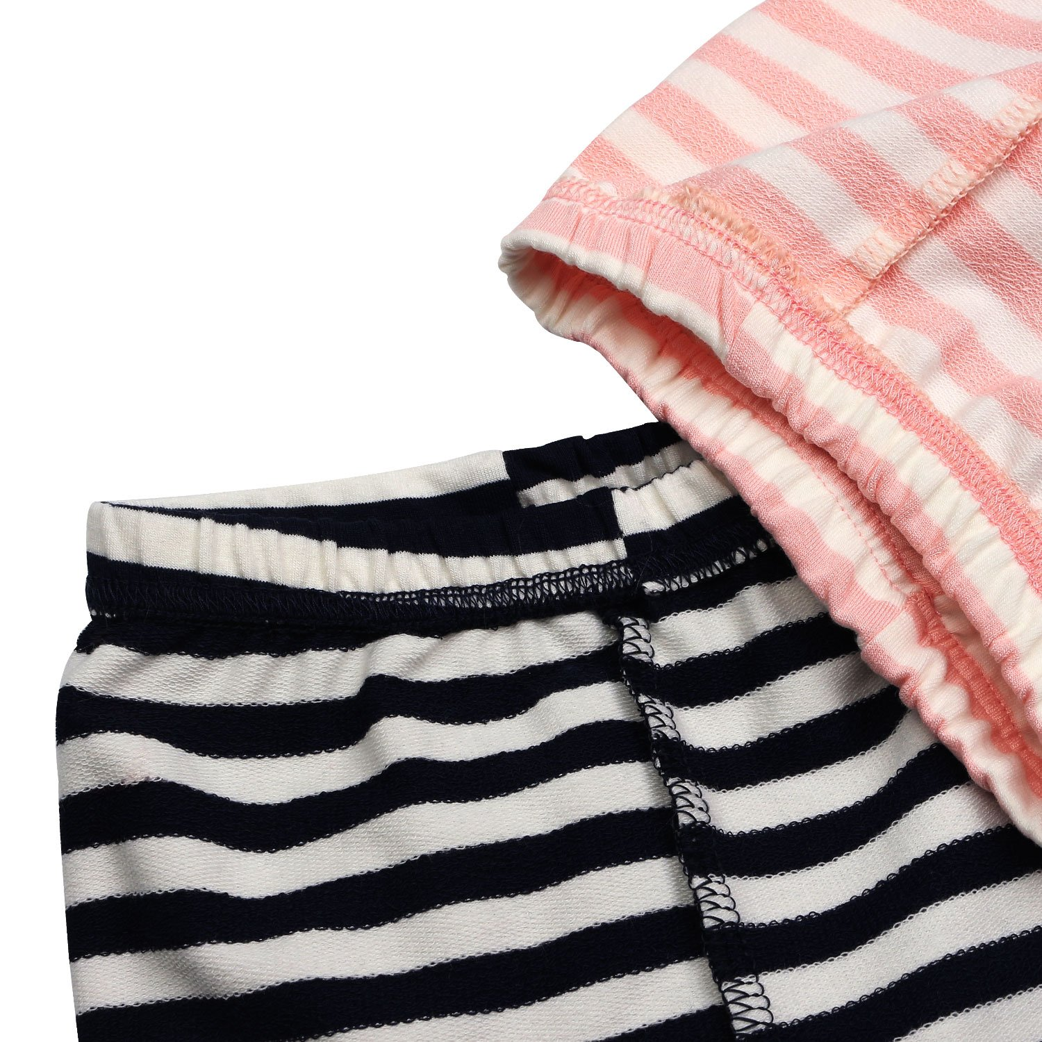 2 Pack Girls Pants Baby Toddler Girl Legging Cute Cat Striped Spliced Kids Pant Cotton Blended 5T by BOOPH (Image #7)