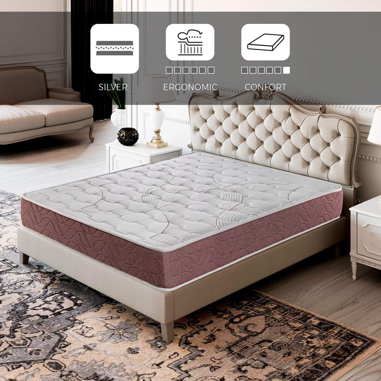 ROYAL SLEEP Colchón viscoelástico 105x190 firmeza Media, Alta Gama, Confort y adaptabilidad Alta, Altura 22cm - Colchones Dormant Plus