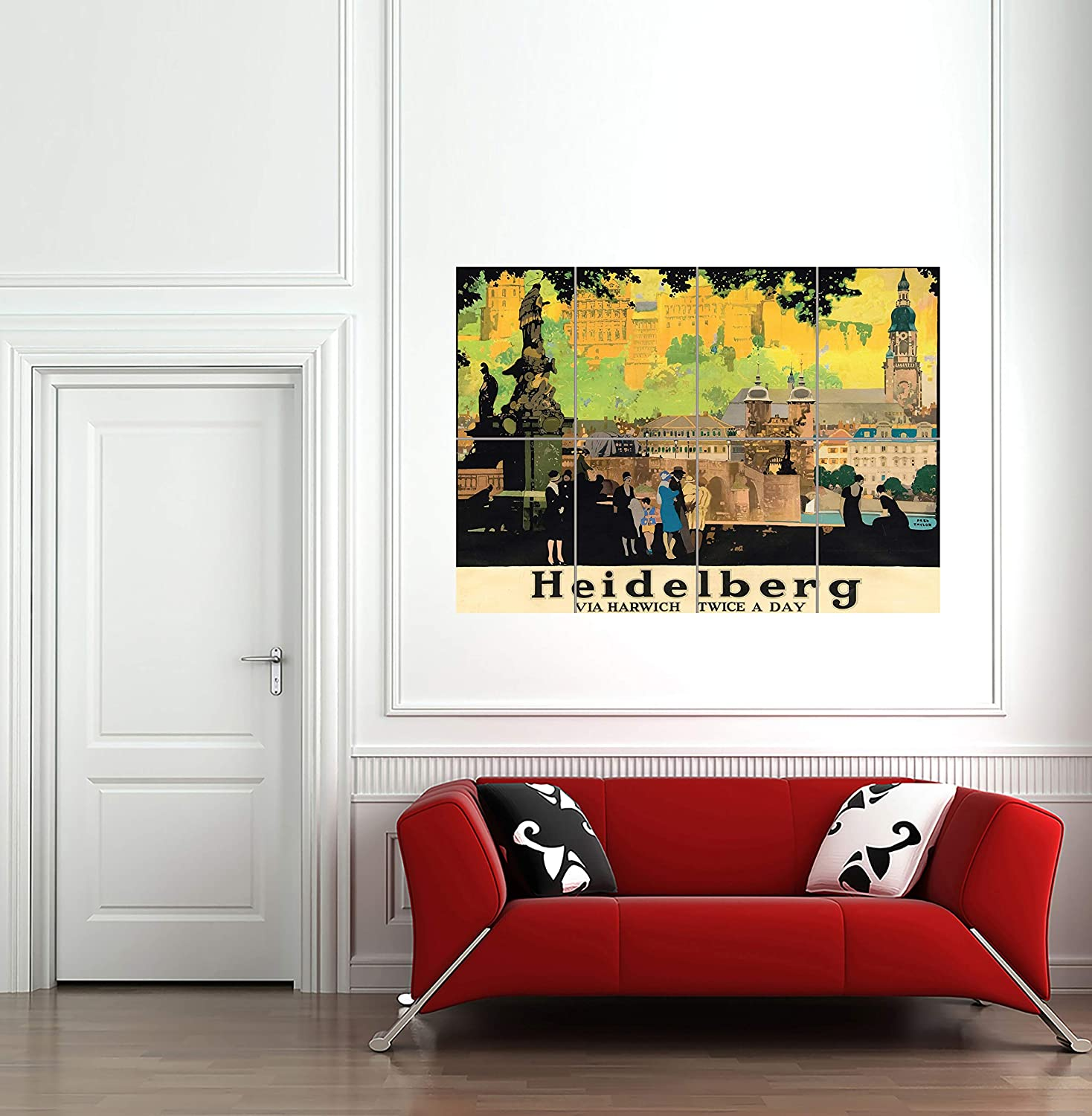 Advert Heidelberg Rail City Painting Giant Wall Art Poster Print