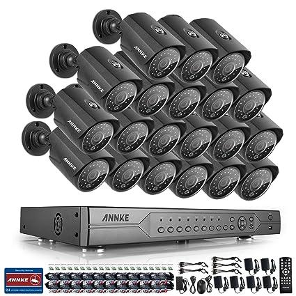 ANNKE Kit 20 Cámaras de vigilancia 24 Canales DVR 720P CCTV(P2P H.264
