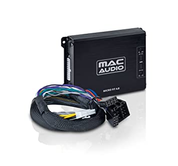 Mac Audio 1104304 - Amplificador de coche (sensibilidad de entrada de 4.5 - 10 V, fuente de alimentación de 12V) color negro: Amazon.es: Electrónica