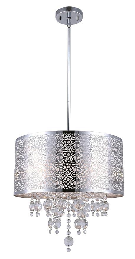 Canarm ich543a04ch16 piera 4 light chandelier with crystal chrome