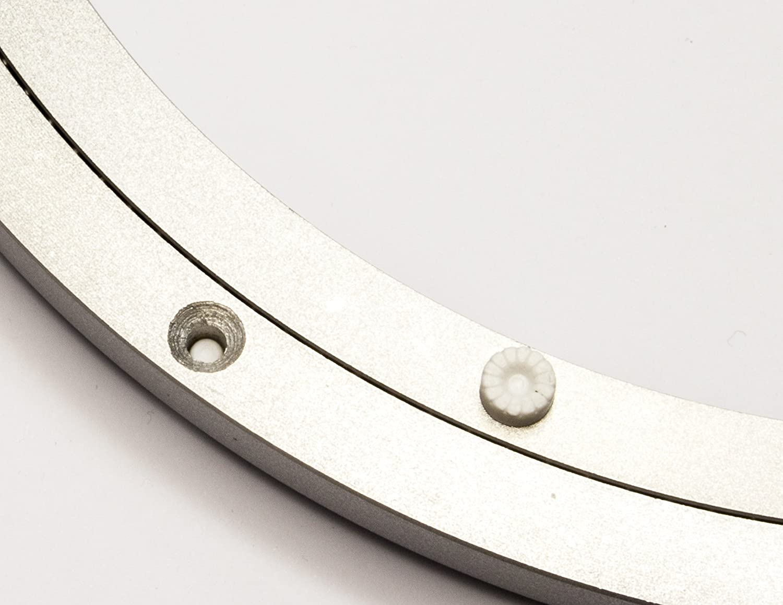 Plateau tournant Rotatif en Aluminium en m/étal Ronde Circulaire Platine Roulement Heavy Duty 200 mm Silver