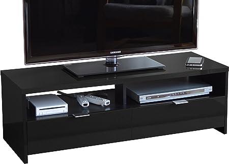 Berlioz Banco - Mueble para TV (aglomerado de Madera), Color Negro: Amazon.es: Hogar