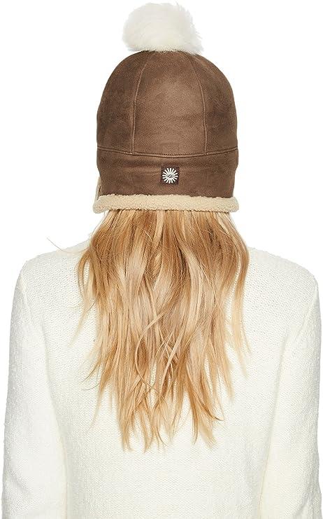f27bd105df692 UGG Women s Pom Waterproof Sheepskin Hat Slate Curly One Size at Amazon  Women s Clothing store