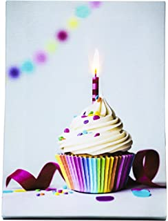 OSW 6 X 825 Birthday Anniversary Any Celebration Recordable LED Greeting Card Tabletop Stand Or Hang