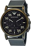 Emporio Armani Men's Quartz Watch analog Display and Stainless Steel Strap AR11115