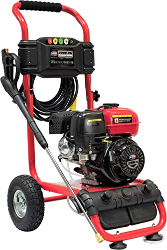 All Power America APW5119 3200 PSI 2.6 GPM Gas Pressure Washer, 30 ft High Hose, Black Red