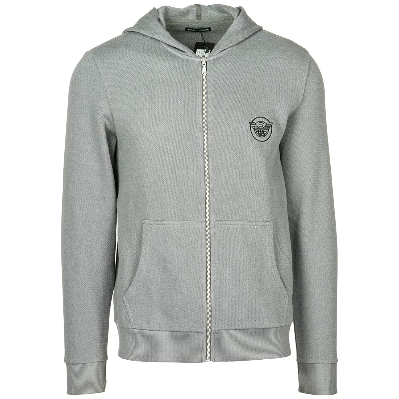 Emporio Armani Herren Sweatshirt mit Zip Grau